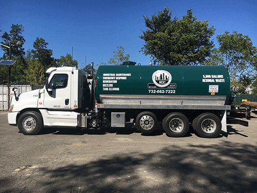 wastewater hauling truck